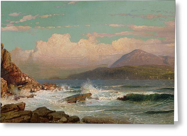 Mt Desert   Maine Greeting Card by William Trost Richards