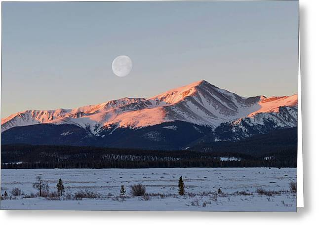 Mt. Elbert Sunrise Greeting Card by Aaron Spong