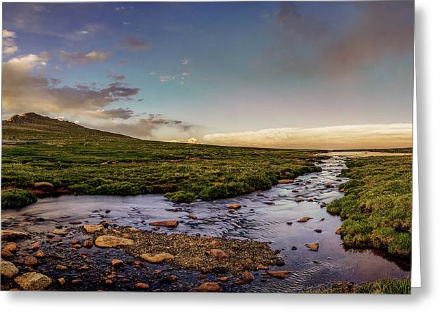 Greeting Card featuring the photograph Mt. Evans Alpine Stream by Chris Bordeleau