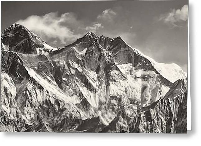 Black Top Greeting Cards - Mt Everest Greeting Card by Nichon Thorstrom