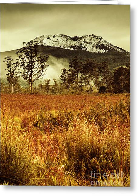 Mt Gell. Tasmania National Park Of Franklin Gordon Greeting Card by Jorgo Photography - Wall Art Gallery