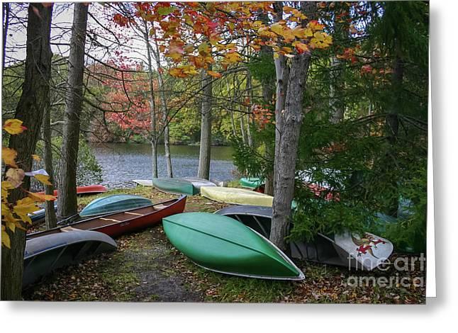 Mt. Gretna Canoes Greeting Card