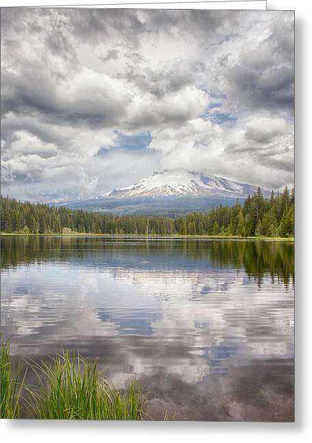 Mt Hood From Trilliam Lake Greeting Card