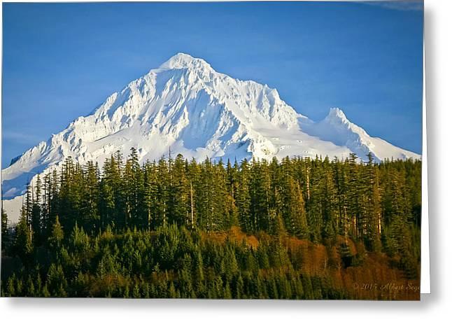 Mt Hood In Winter Greeting Card