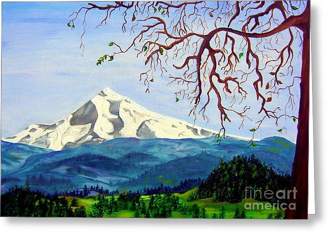 Mt Hood In Winter Greeting Card