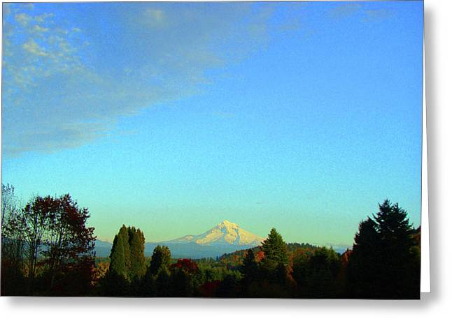 Mt Hood Just Before Sunset Greeting Card