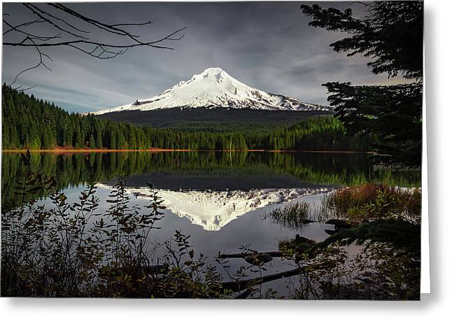 Mt Hood Reflection Greeting Card