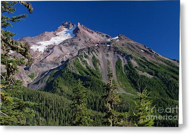 Mt. Jefferson From The Whitewater Trail Greeting Card by Moore Northwest Images