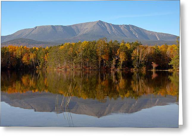 Mt Katahdin Baxter State Park Fall 1 Greeting Card