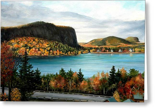 Mt. Kineo, Rockwood, Maine Greeting Card