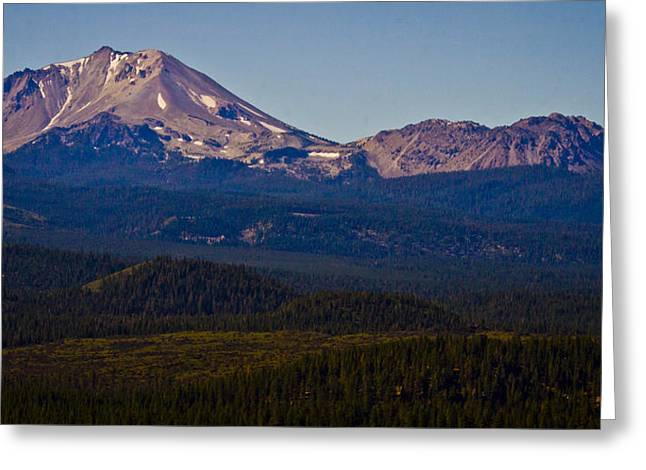 Mt Lassen And Chaos Crags Greeting Card