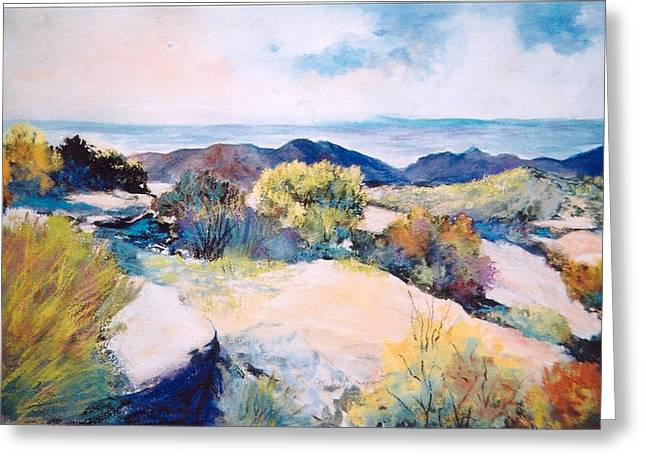 Greeting Card featuring the painting Mt Lemmon View by M Diane Bonaparte