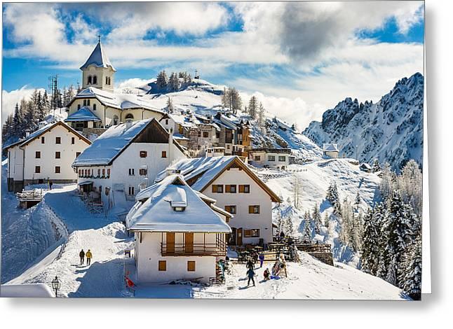 Mt. Lussari Greeting Card by Alfio Finocchiaro