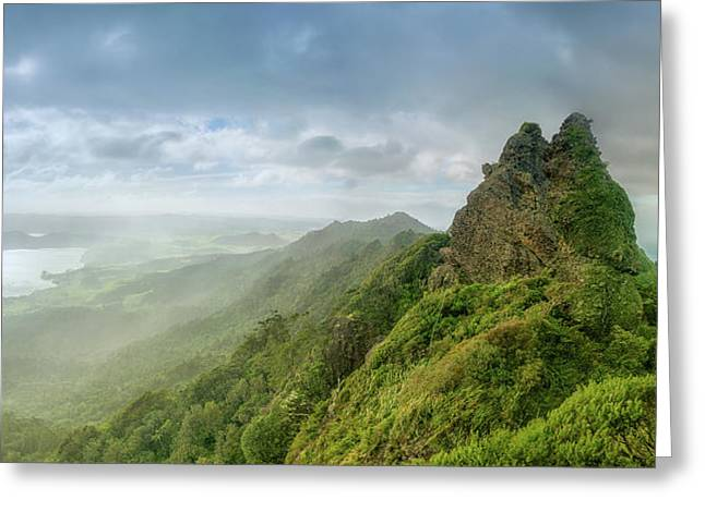 Mt Manaia Greeting Card by Martin Capek
