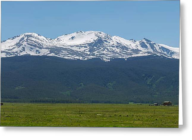 Mt. Massive - Spring Greeting Card by Aaron Spong