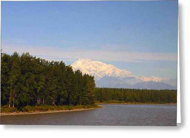 Greeting Card featuring the photograph Mt. Mckinley Alasa 0755 by Jack G  Brauer