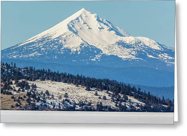 Greeting Card featuring the photograph Mt. Mcloughlin by Marc Crumpler