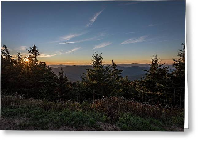 Greeting Card featuring the photograph Mt Mitchell Sunset North Carolina 2016 by Terry DeLuco