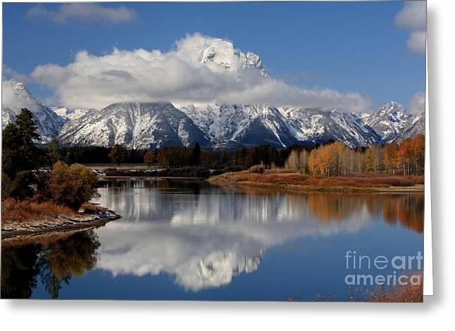 Greeting Card featuring the photograph Mt Moran by Edward R Wisell