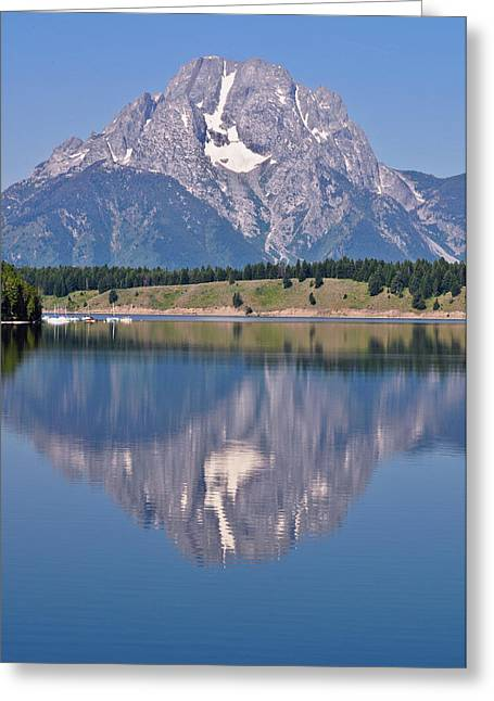 Grand Tetons Greeting Cards - Mt. Moran Greeting Card by Greg Norrell
