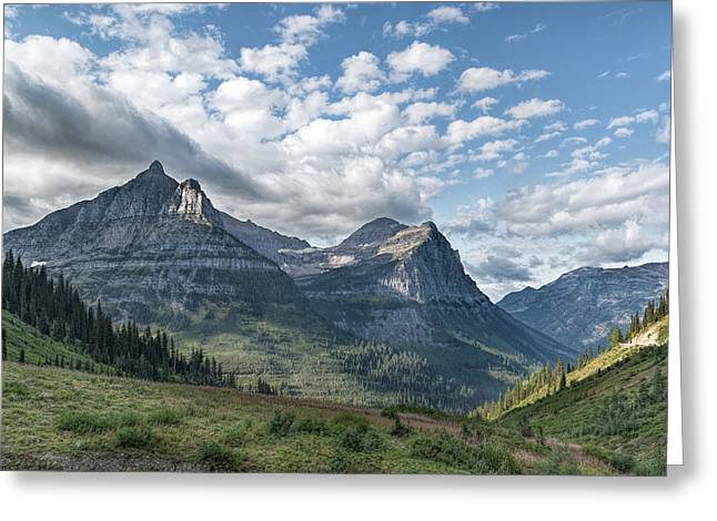 Mt. Oberlin From Logan Pass Greeting Card