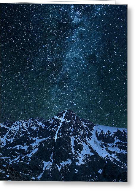 Mt. Of The Holy Cross Milky Way Greeting Card by Aaron Spong