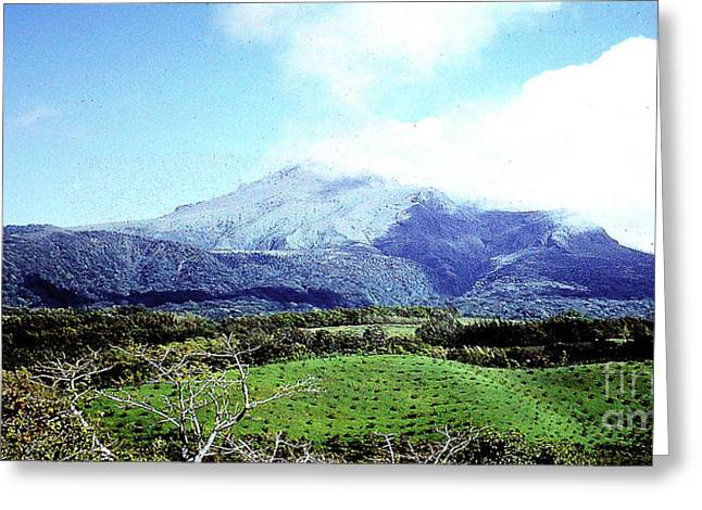 Greeting Card featuring the photograph Mt. Pele, Martinique by Merton Allen