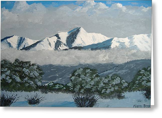 Greeting Card featuring the painting Mt Princeton Co by Norm Starks