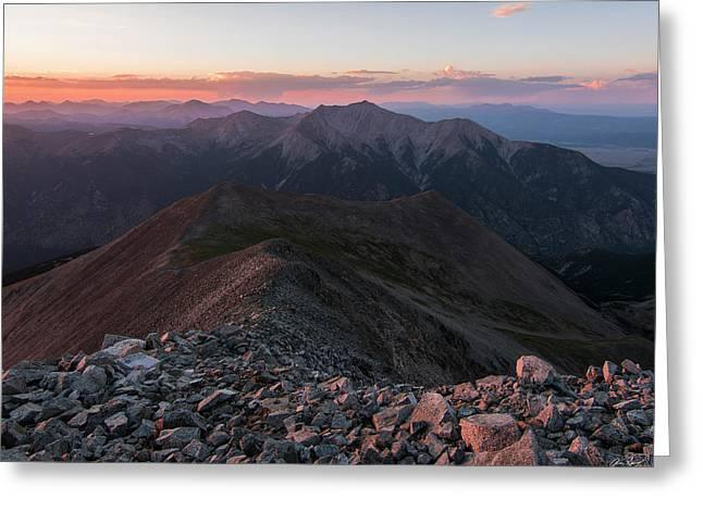 Mt. Princeton Sunset Greeting Card