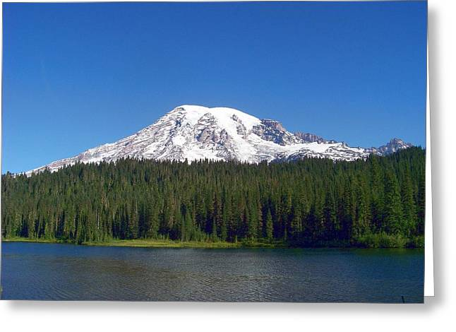 Greeting Card featuring the photograph Mt. Rainier At Reflection Lake by Charles Robinson
