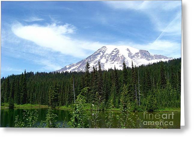 Greeting Card featuring the photograph Mt. Rainier by Charles Robinson