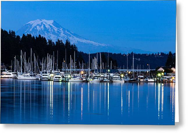 Mt. Rainier From Gig Harbor Greeting Card