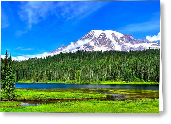 Mt. Rainier From Reflection Lakes Greeting Card
