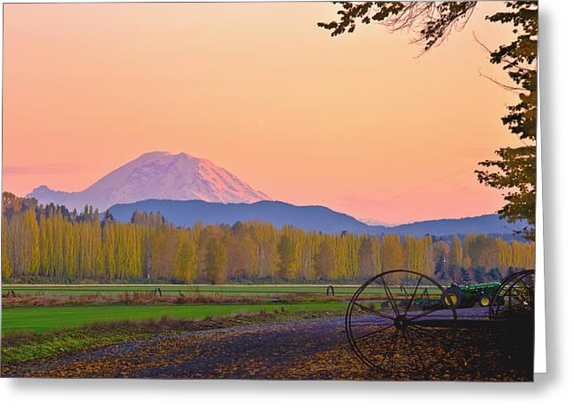 Washington State Greeting Cards - Mt Rainier from the Redmond Valley Greeting Card by Alvin Kroon