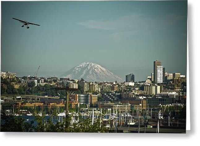 Mt Rainier Is Out Greeting Card