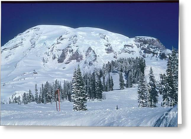 Greeting Card featuring the photograph Mt. Rainier by Larry Keahey