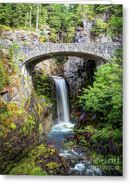 Mt Rainier National Park, Christine Falls Greeting Card