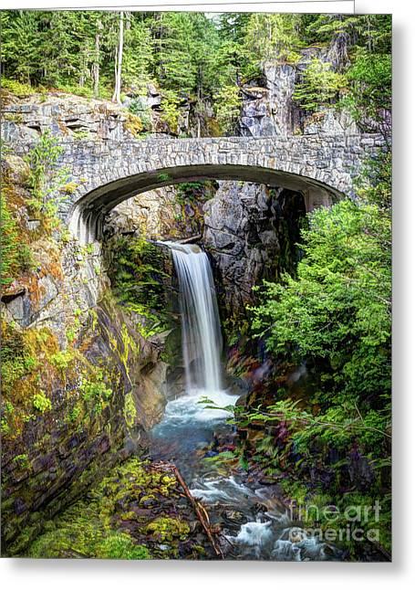 Mt Rainier National Park, Christine Falls Greeting Card