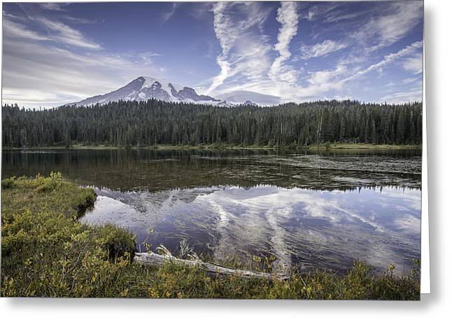 Mt. Rainier Reflection Greeting Card
