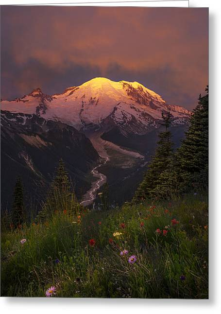 Mt. Rainier Sunrise Greeting Card