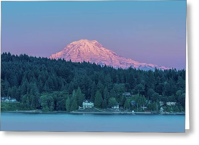 Mt. Rainier Sunset Greeting Card by Joseph Smith