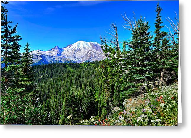 Mt. Rainier Wildflowers Greeting Card