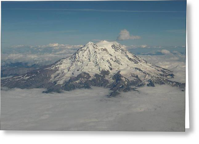 Mt Ranier Greeting Card by Janet  Hall