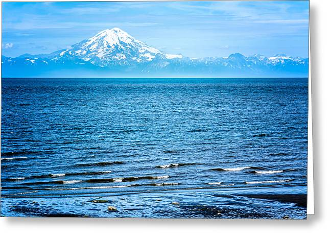 Greeting Card featuring the photograph Mt. Redoubt Cooke Inlet by Claudia Abbott