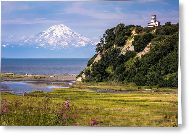 Mt. Redoubt From Ninilchik Beach Greeting Card