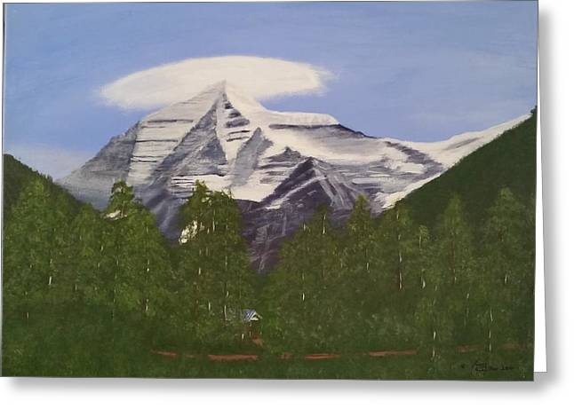 Mt. Robson, Bc Greeting Card