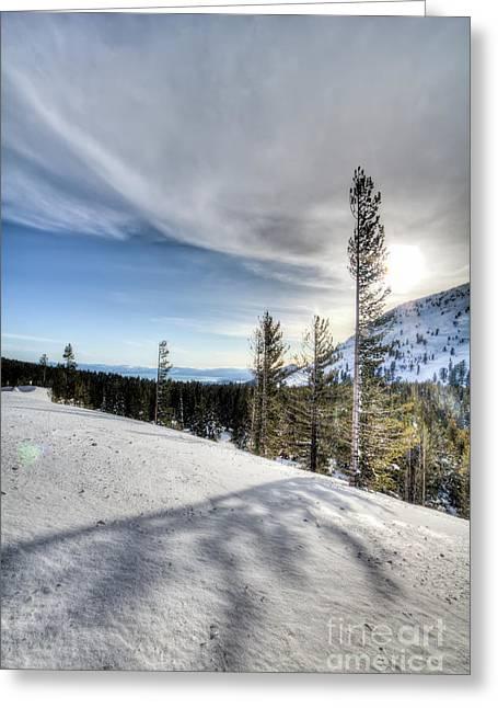 Mt Rose Highway North Lake Tahoe Snow Greeting Card