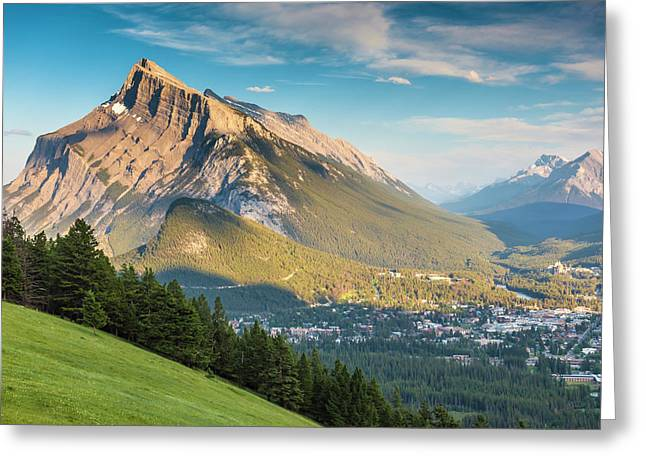 Greeting Card featuring the photograph Mt. Rundle by Mark Mille