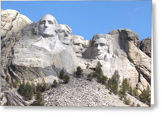 Dakota Faces Photographs Greeting Cards - Mt Rushmore  Greeting Card by Angie Vogel