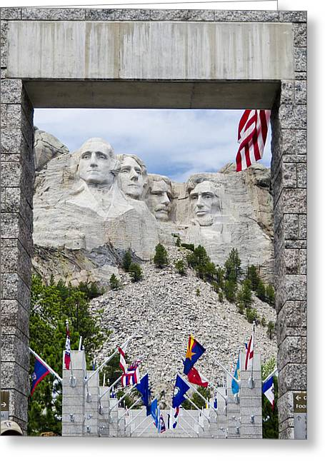 Mt Rushmore Entrance Greeting Card by Jon Berghoff